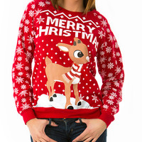 Jolly Rudolph Christmas Sweater
