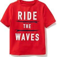 """""""Ride the Waves"""" Rashguard for Toddler Boys 