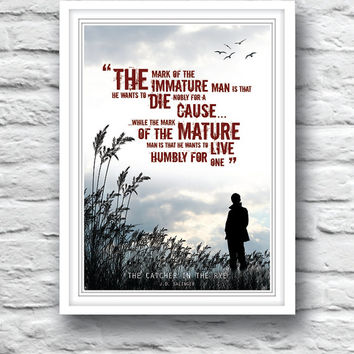 The Catcher in the Rye, Quote poster, J.D. Salinger, Wall Decor, Holden Caulfield, Literature print, Minimalist poster