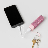 Portable Phone Charger In Pink Bling