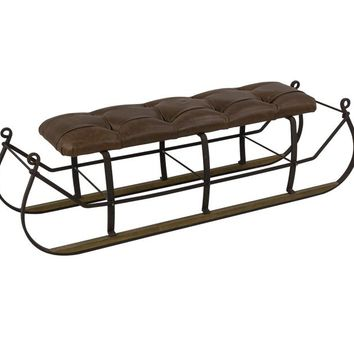 Matthis Snow Sled W/Upholstered Top