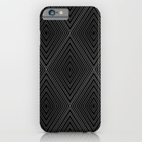 Diamonds (Black) iPhone & iPod Case by Shawn King
