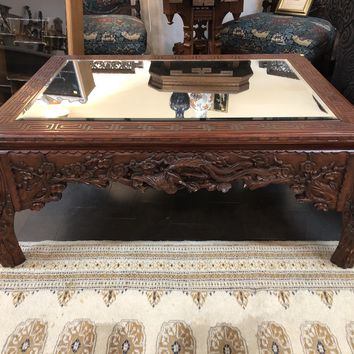 Hand Carved Asian Coffee Table