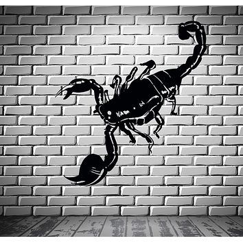 Scorpion Decert Predator Aggressive Decor Wall Stickers Vinyl Decal  (z2319)