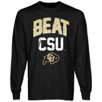 Colorado Buffaloes Beat CSU Long Sleeve T-Shirt - Black