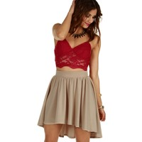 Promo-red Love At First Sight Bustier Top