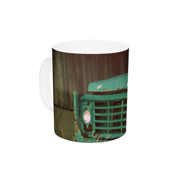 "Angie Turner ""Ford"" Teal Car Ceramic Coffee Mug"