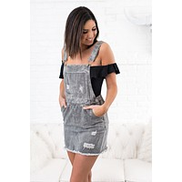 Impress You Overall Skirt (Denim)