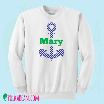 Personalized Anchor Monogrammed Nautical Sweatshirt