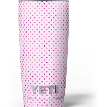 The Mint Pink Multicolored Polka Dots Yeti Rambler Skin Kit