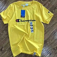 Champion 2018 Spring Summer Couples Counter Short Sleeve T-shirt F-AA-SYSY yellow