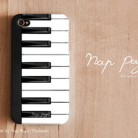 iPhone 4 case , iPhone 4s case and iPhone 3gs case mobile Case handmade mobile Case : Piano Keyboard