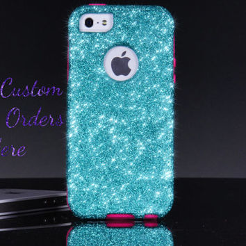 Custom Otterbox Commuter Glitter Designs - iPhone 4/4s iPhone 5/5s/5c Galaxy S3/S4