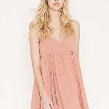 Lace-Paneled Mini Dress | Forever 21 - 2000185338