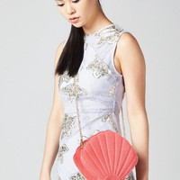 Coral Shell Cross Body Bag