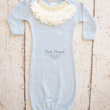 Newborn baby gown, newborn girl take home outfit, baby girl gown, infant gown, take home outfit, newborn girl outfit, baby girl, baby gift