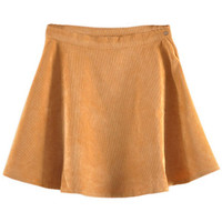 ROMWE | Right Button Ginger Velvet Skirt, The Latest Street Fashion