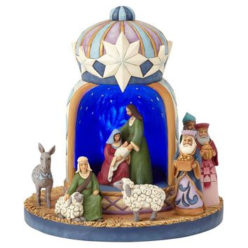 Jim Shore Heartwood Creek Lighted Nativity Crown - 4060109