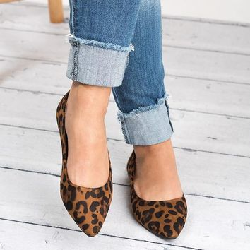 Pointed Ballet Flats - Leopard