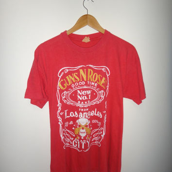 Original Vintage GUN N ROSES From Los Angeles Paradise City 1992 1990s T Shirt