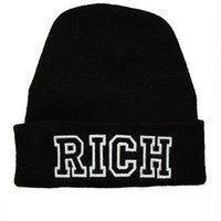 Rich Soil RICH Beanie in Black