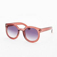 Oversized Sunglasses in Burgundy - Urban Outfitters