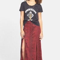 Junior Women's Billabong 'Never Look Back' Print High Waist Maxi Skirt