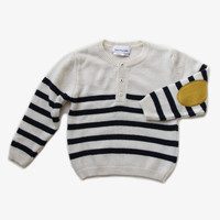 Arsene et Les Pipelettes Boys Stripe Sweater with Elbow Patches - H15GK05 - FINAL SALE