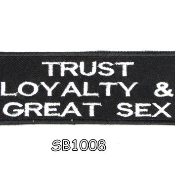 Trust loyalty & great Iron on Small Badge Patch for Motorcycle Biker Vest SB1008