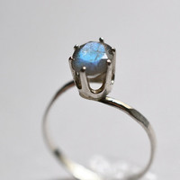 Labradorite Ring, Handforged Sterling Silver Cocktail Ring