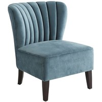 Emille Channel Back Chair - Turquoise