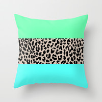 Leopard National Flag XIV Throw Pillow by M Studio