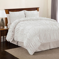 Lush Decor C00472P12 Venetian Four Piece White Comforter Set King - (In No Image Available)