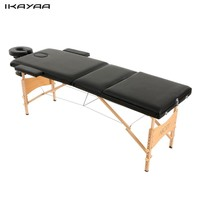 3 Fold Portable Massage Table Therapy Adjustable Massage Bed Facial SPA Bed Tattoo Beauty Salon Device