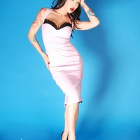 The Masuimi Dress in Lavender Bengaline   Pinup Girl Clothing