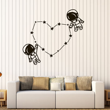 Vinyl Wall Decal Spaceman Astronaut Space Kids Room Stickers Unique Gift (583ig)