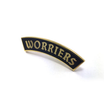 Worriers Anxiety Club Pin