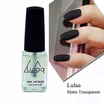6ML Nail Polish Magic Super Matte Transparent Nails Art Gel Frosted Surface Oil Nail Polish