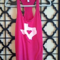 Love Texas Tank - Hot Pink