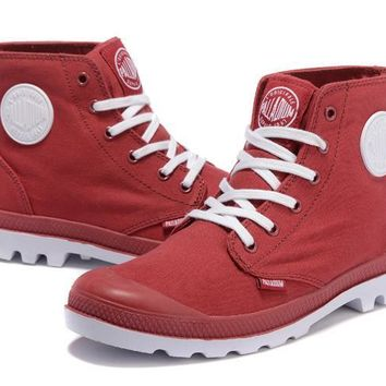 Palladium Pampa Hi Originale Tx High Boots Red White - Beauty Ticks