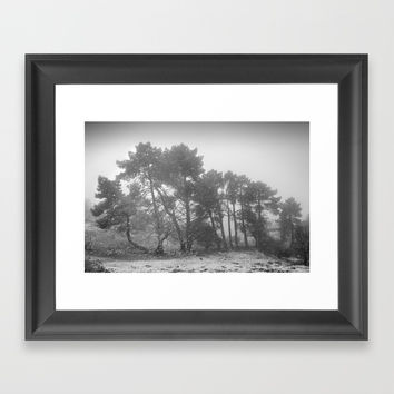 Big snowstorm Framed Art Print by Guido Montañés