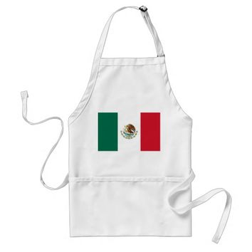 Apron with Flag of Mexico