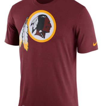 Men's Washington Redskins Nike Burgundy Legend Logo Essential 3 Performance T-Shirt