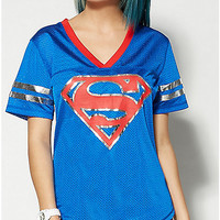 Superman Foil Logo Junior Fitted Hockey Jersey Tee - Spencer's