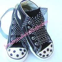 Infant Toddler Bling Chuck Taylor All Star por jewelrybabyblingdara