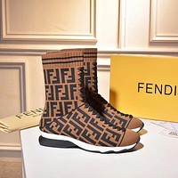 Fendi Sports elastic stocking boots