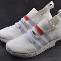 Best Online Sale Adidas Original Mega Boost NMD Omega White Sport Running Shoes Classic Casual Shoes Sneakers
