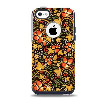 Colorful Floral Pattern with Strawberries Skin for the iPhone 5c OtterBox Commuter Case