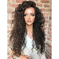 """Foxy Waves Human Hair Blend Multi Parting lace front wig 24"""""""