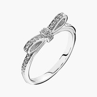 Women's PANDORA 'Sparkling Bow' Ring - Silver/ Clear